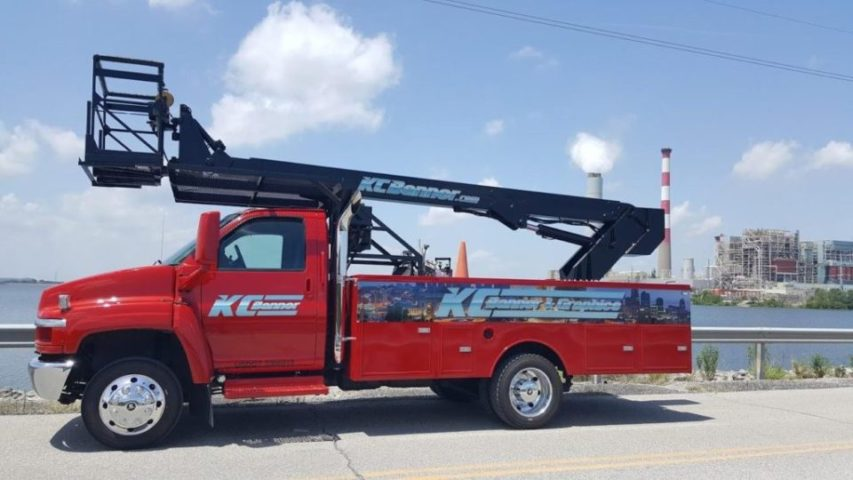 The KC Banner Big Red Boom Truck!