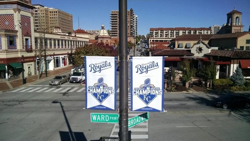 Royals Banners on the Country Club Plaza